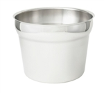 Winco INS-11.0M Stainless Steel Vegetable Inset - 11 Qt.