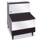295 Lb Undercounter Crescent Cube Ice Maker with 100 lb Storage Bin - Air Cooled - (Hoshizaki KM-300BAJ)