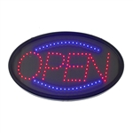 "LED Oval ""OPEN"" Display Sign, (LED-10)"