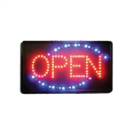 "Winco LED ""OPEN"" Sign - Indoor Use - 13"" x 22"", (LED-6)"