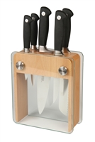 Mercer Genesis 6-Piece Knife Block Set  with Beech Wood & Glass Holder (M20050)