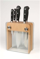 Mercer Renaissance 6-Piece Knife Block Set with Beech Wood & Glass Block Holder (M23505)