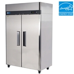 Turbo Air 52-Inch 47 Cu.Ft. (2) Door Reach-In Commercial Freezer with Top Mount Compressor, (M3F47-2)