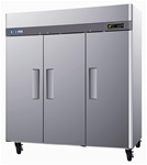 Turbo Air 78-Inch 72 Cu.Ft. (3) Door Reach-in Freezer, (M3F72-3)