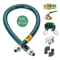 "Krowne 3/4"" Diameter x 60"" Long Gas Hose Kit, (M7560K)"
