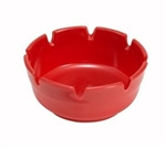 "Winco MAS-4R Ashtray - 4"" Diameter, Red"