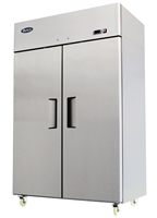 Atosa Two Section Solid Door Reach-In Freezer - Top Mount Compressor - 44.5 Cu. Ft. (MBF8002GR)