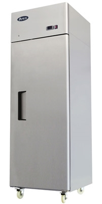 Atosa One Section Solid Door Reach-In Refrigerator - Top Mount Compressor - 22.6 Cu. Ft. (MBF8004GR)