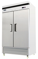 Atosa Two Section Solid Door Reach-In Freezer - Bottom Mount Compressor - 44.8 Cu. Ft. (MBF8503GR)