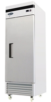 Atosa One Section Solid Door Reach-In Refrigerator - Bottom Mount Compressor - 21 Cu. Ft. (MBF8505GR)