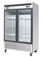 Atosa Two Section Glass Swing Door Merchandiser Freezer - 44.8 Cu. Ft (MCF8703GR )
