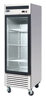 Atosa One Section Glass Swing Door Merchandiser Refrigerator - 19.1 Cu. Ft (MCF8705GR)