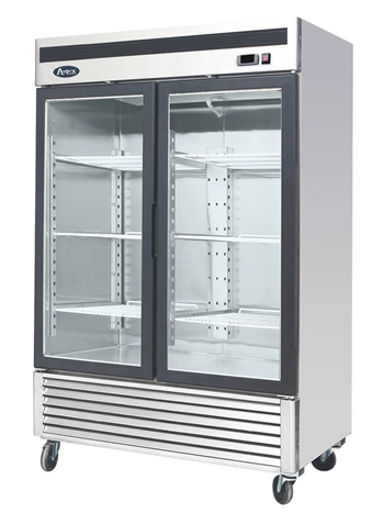 Atosa Two Section Glass Swing Door Merchandiser Refrigerator - 44.8 Cu. Ft (MCF8707GR)