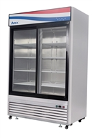 Atosa Two Section Sliding Glass Door Merchandiser Refrigerator - 44.85 Cu. Ft (MCF8709GR)
