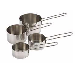 Winco Measuring Cup - Wire Handle - 4 Pcs/Set, (MCP-4P)