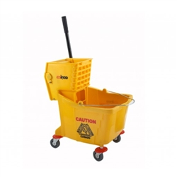 Winco Mop Bucket With Wringer - Yellow - 36 Qt., (MPB-36)