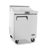 "Atosa Refrigerated Sandwich / Salad PrepTable - 1-Door - 27"" Wide (MSF8301GR)"