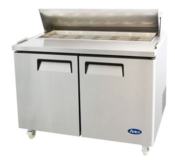 "Atosa Refrigerated Sandwich / Salad PrepTable - 2-Door - 48"" Wide (MSF8302GR)"