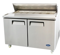 "Atosa Refrigerated Sandwich / Salad PrepTable - 2-Door - 60"" Wide (MSF8303GR)"