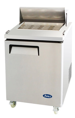"Atosa Refrigerated Mega Top Sandwich / Salad PrepTable - 1-Door - 27"" Wide (MSF8305GR)"