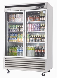 Turbo Air New Maximum (2) Glass Door Refrigerated Merchandiser, (MSR-49G-2)