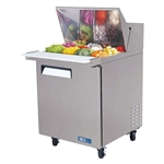 Turbo Air 28-Inch Refrigerated Food Prep Table with (8) 1/6 Pans, (MST-28)