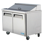 "Turbo Air MST-48 48"" (2) Door Refrigerated Food Prep Table"