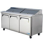 Turbo Air MST-72 3-Door Refrigerated Food Prep Table