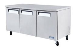 Turbo Air 72-Inch 19 Cu.Ft. (3) Door Under Counter Refrigerator, (MUR-72)