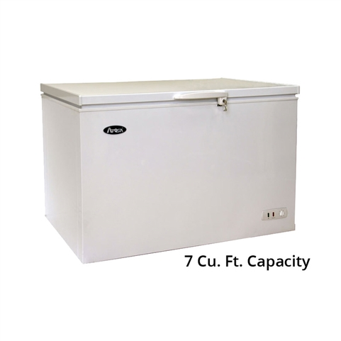 Atosa Solid Top Commercial Chest Freezer - 7 Cu. Ft. (MWF9007)