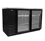 Norlake 59-Inch (2) Glass Doors Refrigerated Backbar Storage Cabinet, (NLBB59G)