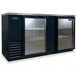 Norlake 69-Inch (2) Glass Door Refrigerated Backbar Storage Cabinet, (NLBB69G)