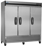Norlake 78-Inch 70 Cu.Ft. (3) Door Bottom Mount Freezer, (NLF72-S)