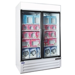Norlake (2) Glass Door 45.7 Cu.Ft. Freezer Merchandiser - White Finished,  (NLGFP48-HG-W)