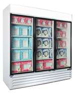 Norlake (3) Glass Door 70.2 Cu.Ft. Freezer Merchandiser - White Finished, (NLGFP74-HG-W)