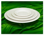Crestware OM49 Ombra pearl white Plate