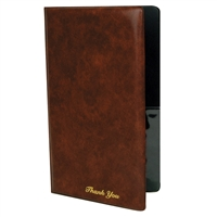 Thunder Group Guest Check Presentation Cover, Brown Colored (PLPT046BR)