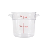 Winco Round Food Storage Container - 1 Qt., Clear