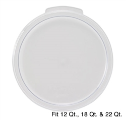 Winco Cover - Fits 12/18/22 Qt. Clear Round Container