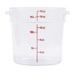 Winco Round Food Storage Container - 18 Qt., Clear