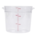 Winco Round Food Storage Container - 6 Qt., Clear