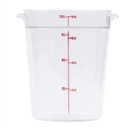 Winco Round Food Storage Container - 8 Qt., Clear