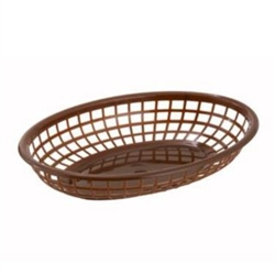 Winco Fast Food Basket - Oval - Brown, (PFB-10B)
