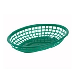Winco Fast Food Basket - Oval - Green, (PFB-10G)