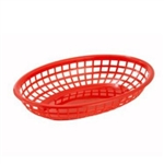 Winco Fast Food Basket - Oval - Red, (PFB-10R)
