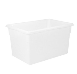 "Winco Food Storage Box - 26"" x 18"" x 15"", White"