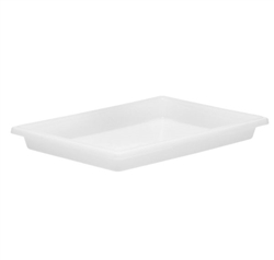 "Winco Food Storage Box - 18"" x 26"" x 3"", White"