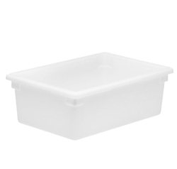 "Winco Food Storage Box - 26"" x 18"" x 9"", White"