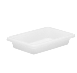 "Winco Food Storage Box - 18"" x 12"" x 3"", White"