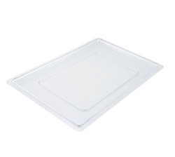 "Winco Food Storage Box Cover - 18"" x 26"", Clear"